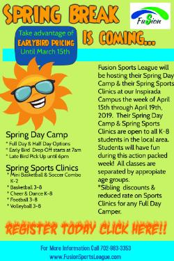 Fusion Sports League Spring Break Camps/Clinic