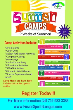 Fusion Sports League Summer Camps