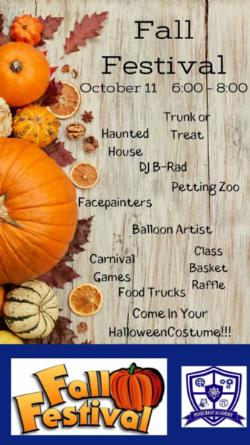 Fall Festival is Friday, October 11, 2019